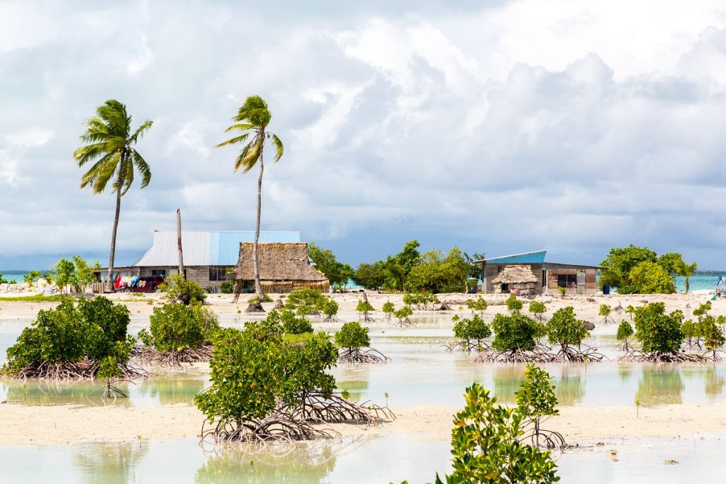 A village on an atoll in South Tarawa, Kiribati. Photo: Dmitry Malov.